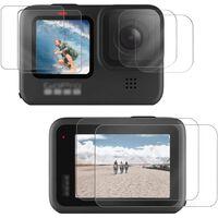 Silikonetui og herdet glass skjermbeskytter til GoPro Hero 9 med tilbe