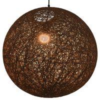 vidaXL Hengelampe brun sfærisk 55 cm E27