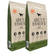 vidaXL Premium tørr hundemat Adult Essence Beef 2 stk 30 kg