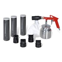 Air Sand Blasting Kit 3 Bottles of Sand & 4 pcs Nozzles Included
