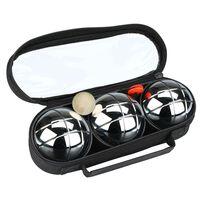 Get & Go Jeu De Boules-sett  3 baller sølv COC 52JP-COC-Uni
