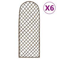 vidaXL Hageespalier 6 stk 45x170 cm selje