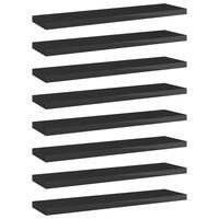 vidaXL Hylleplater 8 stk høyglans svart 40x10x1,5 cm sponplate