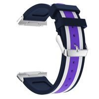 Silikonarmbånd kompatibel med Fitbit Ionic - Blå og Hvit