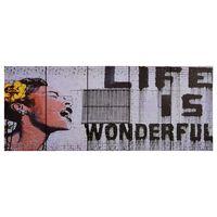 vidaXL Lerretsbilde Wonderful flerfarget 150x60 cm