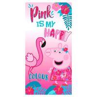 Peppa Pig, Strandhåndkler - Pink is my happy color
