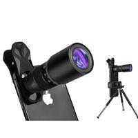 Fotolinse med 18x zoom med stativ for mobil - svart