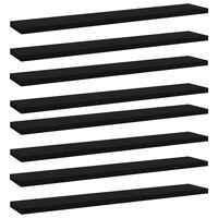vidaXL Hylleplater 8 stk svart 60x10x1,5 cm sponplate