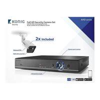 CCTV sett - Full HD DVR, 1TB HDD, 2x Overvåkningskameraer