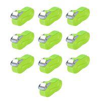 vidaXL Stropper 10 stk 0,25 tonn 5mx25mm fluorescerende grønn