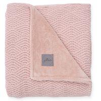Jollein Teppe River Knit 100x150 cm fleece blek rosa