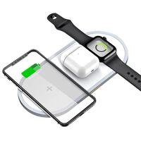 Trådløs hurtiglader for smarttelefon og Apple Watch