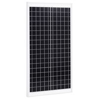 vidaXL Solcellepanel 30 W polykrystallin aluminium og sikkerhetsglass