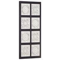 vidaXL Håndskåret veggpanel MDF 40x80x1,5 cm svart og hvit