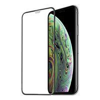 Skjermbeskytter iPhone X / XS herdet glass / 3D heldekkende - svart
