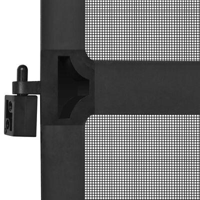vidaXL Insektskjerm med hengsler for dør antrasitt 100x215 cm