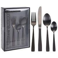 Excellent Houseware Bestikksett 16 deler rustfritt stål svart