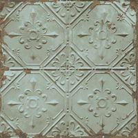 DUTCH WALLCOVERINGS Veggpanel Tin Ceiling grønn