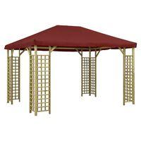 vidaXL Paviljong 4x3 m vinrød