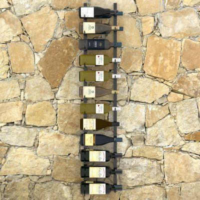 vidaXL Veggmontert vinstativ for 24 flasker svart jern