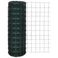 vidaXL Euro gjerde stål 10 x 1,2 m grønn