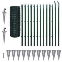 vidaXL Euro gjerde stål 25x1,2 m grønn