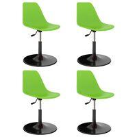 vidaXL Svingbare spisestoler 4 stk grønn PP