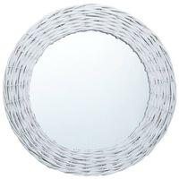vidaXL Speil hvit 50 cm kurvstrå