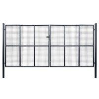 vidaXL Hageport netting galvanisert stål 400x200 cm grå