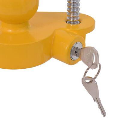 vidaXL Tilhengerlås med 2 nøkler stål og aluminiumlegering gul