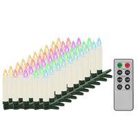 vidaXL Trådløse LED-julestearinlys med fjernkontroll 50 stk RGB