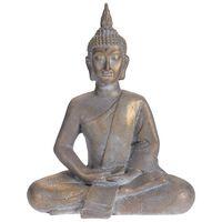 ProGarden Sittende Buddha 50x28x62,4 cm grå gull