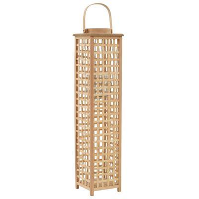 vidaXL Hengelanterne for stearinlys bambus naturfarget