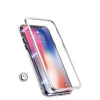 Herdet glass mobil deksel - iPhone XR - Sølv