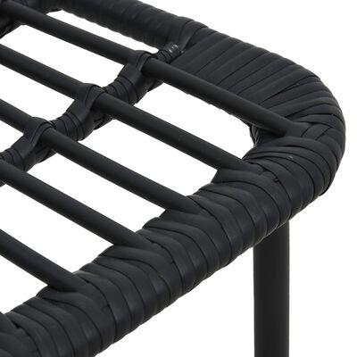 vidaXL Hagestoler 2 stk polyrotting svart