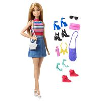 Barbiedukke og tilbehør
