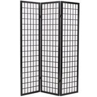 vidaXL Sammenleggbar romdeler 3 paneler japansk stil 120x170 cm svart