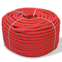 vidaXL Båttau polypropylen 14 mm 250 m rød