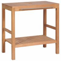 vidaXL Servantskap for bad heltre teak 74x45x75 cm