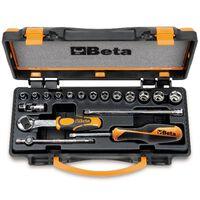 Beta Tools Skralle- og pipenøkkelsett 18 deler 900/C13-5 009000953