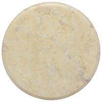 vidaXL Bordplate kremhvit Ø40x2,5 cm marmor