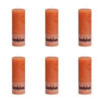 Bolsius Rustikke kubbelys 190 x 68 mm oransje 6 stk