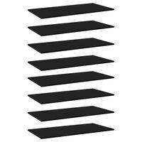vidaXL Hylleplater 8 stk svart 80x20x1,5 cm sponplate