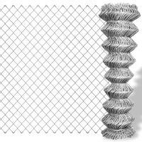 vidaXL Kjedegjerde galvanisert stål 25x1,5 m sølv