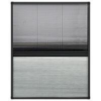 vidaXL Plissert insektskjerm vindu aluminium 60x80 cm med solskjerm
