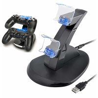 Ladestasjon for to PS4-kontroller
