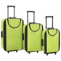vidaXL Myke kofferter 3 stk grønn oxfordstoff