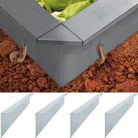 vidaXL Sneglegjerde 4 plater galvanisert stål 150x7x25 cm 0,7 mm