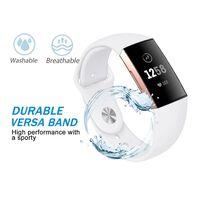Fitbit Charge 3/4 armbånd silikon - hvit - S