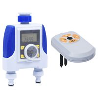 vidaXL Digital vanningstimer med to krankoblinger og fuktsensor